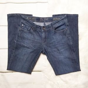 DL1961 MILANO BOOT CUT STRETCH JEANS SIZE 28